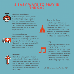 5 Easy Ways to Pray in the Car